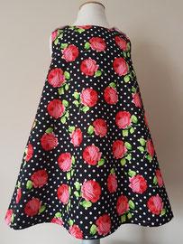Voor: Ik geef je een roosje..., so cute katoenen jurkje dat gevoerd is. Artikelcode 98-022. Prijs 34,95 excl. verzendkosten.