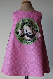 Achter:  I love panda's, so cute katoenen jurkje. Artikelcode 86-069.