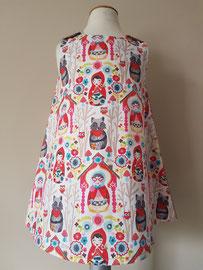 Voor: Roodkapje, so cute katoenen jurkje. Artikelcode 92-068. Prijs: 32,95 excl. verzendkosten.