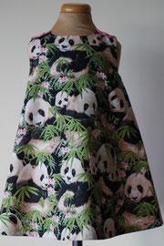 Voor: I love panda's, so cute katoenen jurkje. Artikelcode 86-069. Prijs 32,95 excl. verzendkosten.
