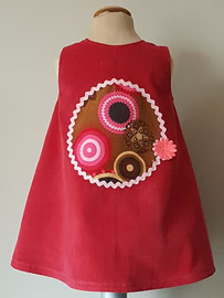 Achter: So cute jurkje met van fijn ribstof. Artikelcode 86-081.