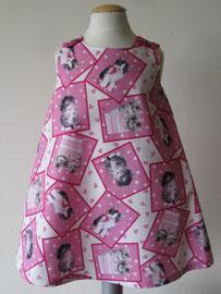 Voor: Miiaauw! pink kittycats katoenen jurkje. Artikelcode 98-015. Prijs 34,95 excl. verzendkosten.