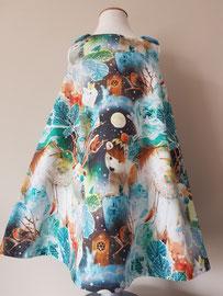 Voor: Winterwonderland, so cute katoenen jurkje dat gevoerd is. Artikelcode 104-019. Prijs: 34,95 excl. verzendkosten.
