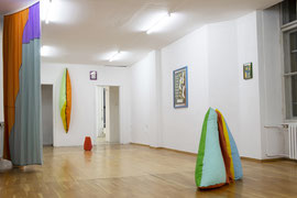Exhibition view SOFTIES, with Lucas Kaiser at Projektraum145, Berlin Mitte, 2020