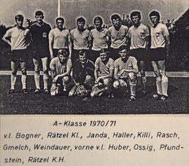 A-Klasse 1970/1971