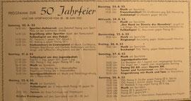 Programm zur 50. Jahrfeier 1953