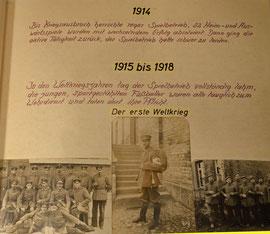 Schwierige Zeit während des 1. Weltkriegs
