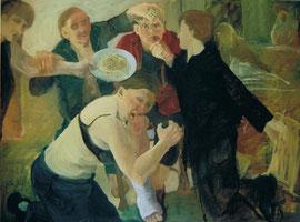 Annette Fritze/ Machtlos/ Öl auf Leinwand/ 150x200