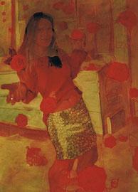 Annette Fritze/ Tänzerin/ Öl auf Leinwand/ 100x80