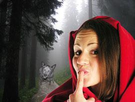 ...Pas vu le loup au trou du furet ...?