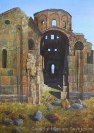 Alte Kirche, 2012, Öl auf Leinwand, 102x70