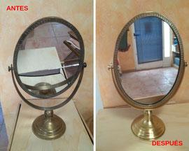 Restauración de espejo del siglo XIX.