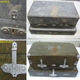 Restauración de caja de accesorios relojero. Principios del siglo XX.