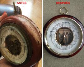 Restauración de barómetro de barco español del principios del siglo XX.