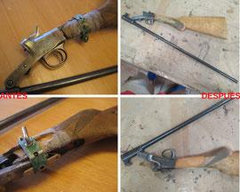 Restauración de escopeta delos años 50.