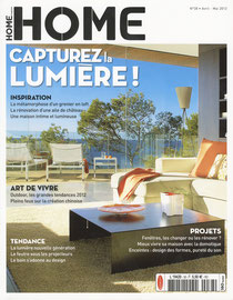HOME MAGAZINE - DOUBLE CHEESE - PORCELAINE DE LIMOGES - AVRIL MAI 2012