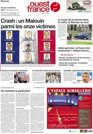 OUEST FRANCE - TABLE BASSE COLLECTION LATITUDE - MAISON & OBJET JANV 2015