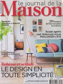 JOURNAL DE LA MAISON < SEPT 2016
