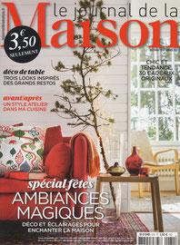 JOURNAL DE LA MAISON < PORTRAIT - NOVEMBRE 2014