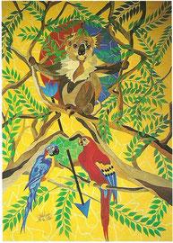 Le Koala - Peinture par Stéphanie Le Pitre, artiste peintre, Loire-Atlantique