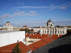 Blick über Wien mit Kunst und Naturhistorischem Museum