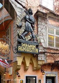 Denkmal für den lieben Augustin  am Griechenbeisl
