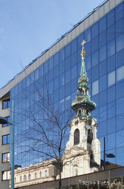 Stiftskirche im Spiegel