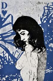 Asta Rode, Aus der Serie Naked Truth, je 70 x 100 cm, Öl auf Aquarellpapier, 2011 -2012