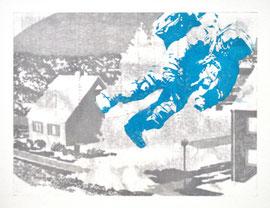 Asta Rode,  Vorstadt,Ölfarbe auf Leinwand, 65 x 50 cm, 2012