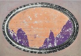 """Asta Rode, """"Himmelsglüh´n"""", Öl auf Leinwand, 55 x 80 cm, 2013"""