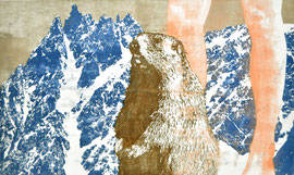 Asta Rode,  Montblanc (die Zweite), Ölfarbe auf Leinwand, 72 x 120 cm, 2012