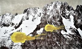 Asta Rode,  Montblanc, Ölfarbe auf Leinwand, 70 x 120 cm, 2012