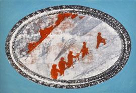 """Asta Rode, """"Berg an"""", Öl auf Leinwand, 45 x 65 cm, 2013"""