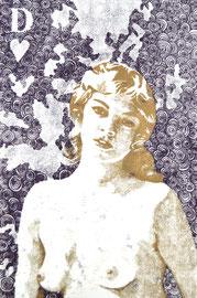 Asta Rode, Aus der Serie Naked Truth, je 70 x 100 cm, Öl auf Aquarellpapier, 2011 - 2012
