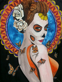 Mariposa   acrylic on panel   George Perkins   $1500