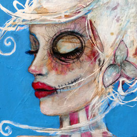 Candy Sugar Skull  acrylic on canvas  Teresa Magel   $200