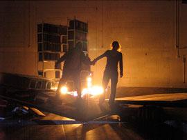 Nachts, wenn der Tag beginnt // Theater rampe Stuttgart //  2005 // Regie: Betty Hensel
