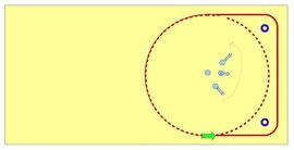 vom Zirkel zur Quadratvolte mit Positionen