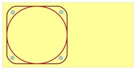 Zirkel und Quadratvolte mit Pylonen