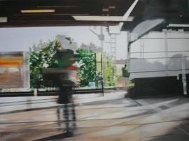 Flüchtig 2014   Öl auf Leinwand   120 x 160 cm   (reserviert)