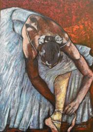PAUSA  olio su tela  cm 70x100  anno 2009