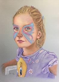 VIOLA  pastello su carta Canson cm 50x70  anno 2016