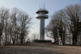 Funkturm auf dem Melibokus DM/HE-314 bei Bensheim/Bergstraße