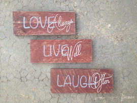 "Pancarte ""Love always"" personnalisable vieillie"
