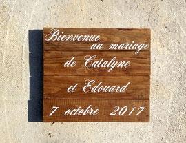 """Mariage tableau """"Bienvenue"""" personnalisable bois"""