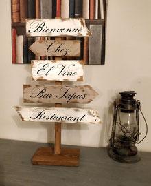 """Panneau directionnel sur pied """"El Vino"""""""