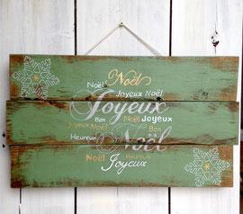 Noël Tableau vert personnalisable vieilli poncé