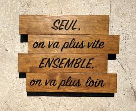 """Tableau """"Ensemble"""" bois personnalisable"""