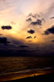 Sonnenuntergang am Strand von Blavand 3