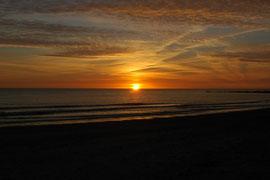 Sonnenuntergang am Strand von Blavand 1